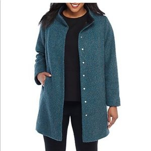 Limited gray and teal lined coat
